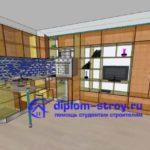 3d кухня студентам строителям