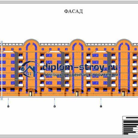 фасад строительства комплекса зданий
