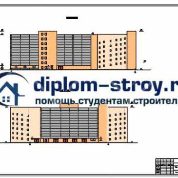 Дипломный по строительству многоэтажного здания автосервиса  Дипломный проект гаража