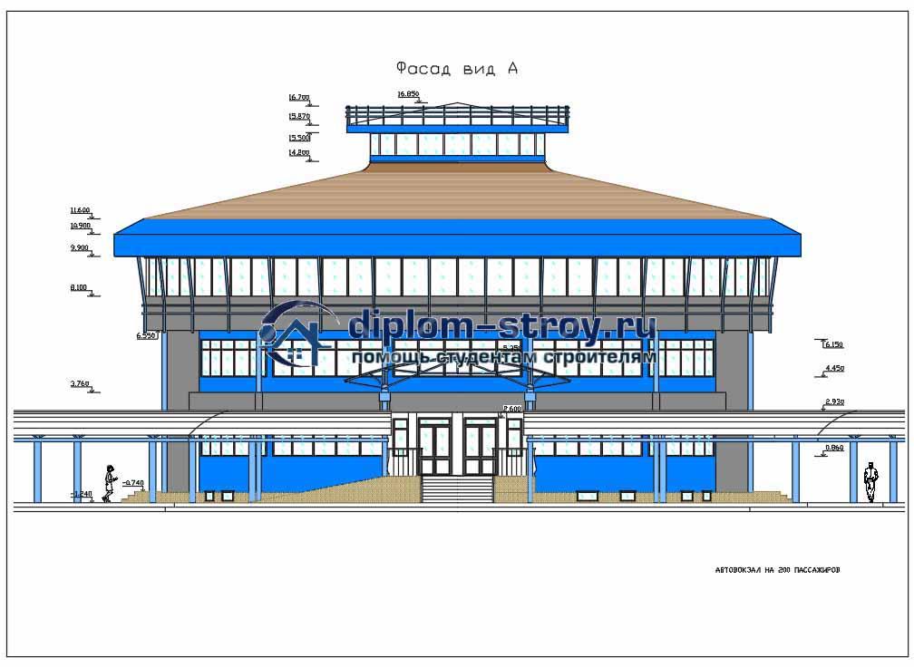 37. Проект строительства автовокзала на 200 пассажиров