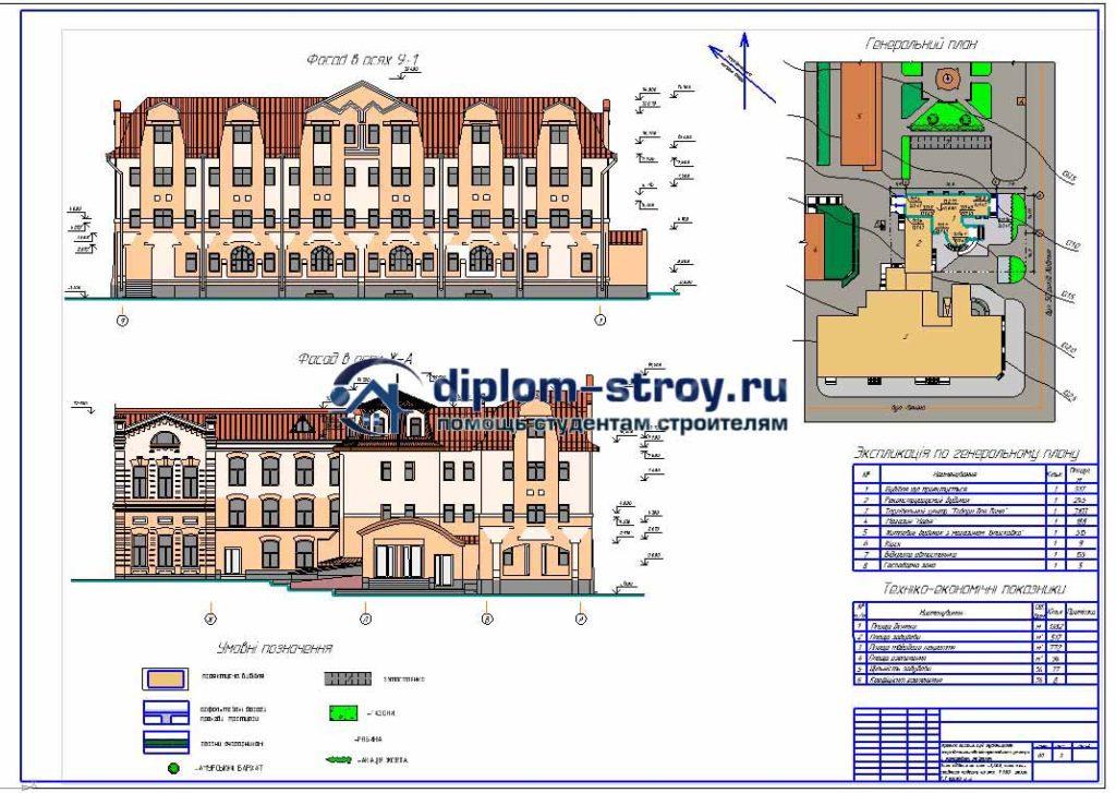 12. Торговый комплекс с мансардным этажем и офисами