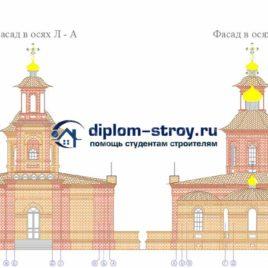 Фасад дипломной работы церковь