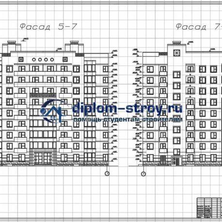 Фасад жилого дома диплом