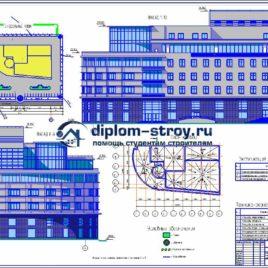48. Проект 8-этажного многофункционального здания
