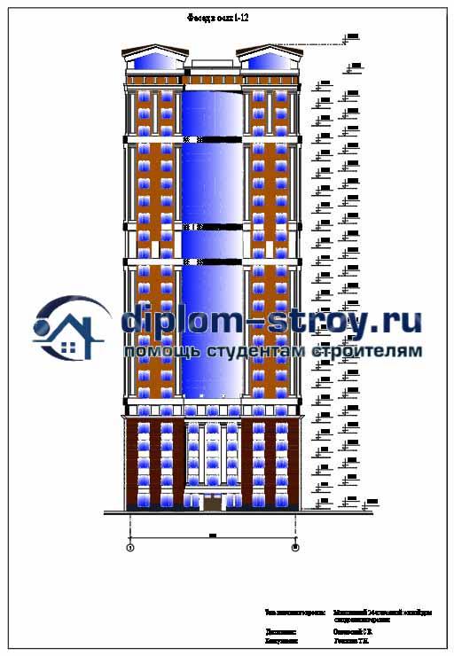 88. Проект 25-ти этажного монолитного жилого дома c подземным гаражем и экологический мониторинг