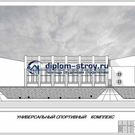 Проект спортзала в архикаде