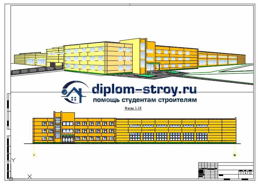 81. Проект дипломный,  моторемонтный цех в г. Мценске